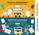 banner for financial management ...   Shutterstock .eps vector #292229924