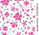 vector magenta flowers...   Shutterstock .eps vector #292230914