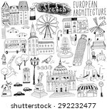 hand drawn european... | Shutterstock .eps vector #292232477