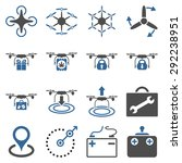 air copter flat icon set...   Shutterstock .eps vector #292238951
