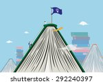 students reaching new heights... | Shutterstock .eps vector #292240397