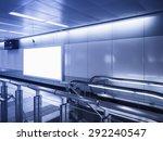 mock up billboard banner light...   Shutterstock . vector #292240547
