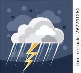 severe weather storm icon   Shutterstock .eps vector #292241285