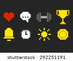 pixel icons for app  web or... | Shutterstock .eps vector #292251191