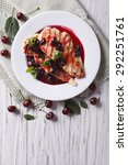 grilled chicken with cherry... | Shutterstock . vector #292251761