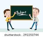 drawing flat character design... | Shutterstock .eps vector #292253744