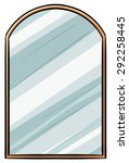 mirror illustration with wooden ... | Shutterstock .eps vector #292258445