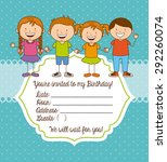 birthday invitation design ... | Shutterstock .eps vector #292260074