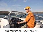 boating in kentucky   man... | Shutterstock . vector #29226271