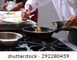 chef in restaurant kitchen... | Shutterstock . vector #292280459