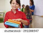 big books mean big knowledge  | Shutterstock . vector #292288547