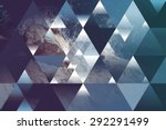 abstract sea geometric... | Shutterstock . vector #292291499