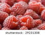 fresh raspberries in macro | Shutterstock . vector #29231308