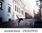 ballerina in the city | Shutterstock . vector #292315925