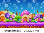seamless cartoon fairy tale... | Shutterstock .eps vector #292324745