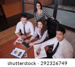 business partners discussing... | Shutterstock . vector #292326749