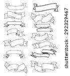 the set of ribbons for design ... | Shutterstock .eps vector #292329467