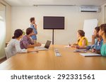 attentive business team... | Shutterstock . vector #292331561