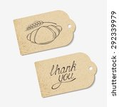craft paper tags with thank you ... | Shutterstock .eps vector #292339979