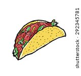 hand drawn taco | Shutterstock .eps vector #292345781