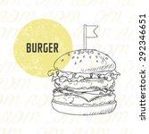 illustration of hand drawn... | Shutterstock .eps vector #292346651