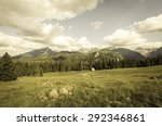 vintage mountains landscape   Shutterstock . vector #292346861