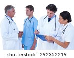doctors and nurses discussing... | Shutterstock . vector #292352219