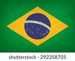 grunge flag of brazil   vector | Shutterstock .eps vector #292358705