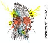 Zentangle Stylized Eagle In Wa...