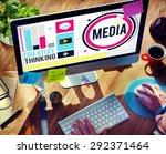 media communication connect... | Shutterstock . vector #292371464