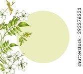 postcard with jasmine flowers... | Shutterstock .eps vector #292376321