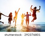 friendship freedom beach summer ... | Shutterstock . vector #292376801