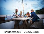 diverse ethnic friendship party ... | Shutterstock . vector #292378301