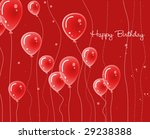 red card with balloons | Shutterstock . vector #29238388