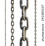 Set Of Metal Chain  Isolated O...