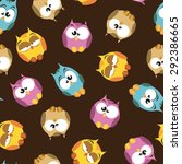 seamless pattern with cartoon... | Shutterstock .eps vector #292386665