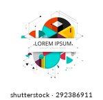 low polygon. geometry polygon... | Shutterstock .eps vector #292386911