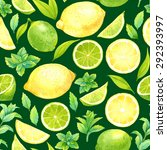 seamless pattern with... | Shutterstock . vector #292393997