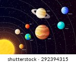 solar system planets with... | Shutterstock .eps vector #292394315
