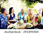 friends friendship outdoor... | Shutterstock . vector #292394504
