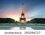 paris   june 22  2015  eiffel... | Shutterstock . vector #292396727