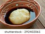 Small photo of Asida - cooked wheat flour lump of dough.popular in Algeria, Libya, Tunisia, Saudi Arabia, Eritrea, Ethiopia, Sudan, and Yemen.