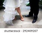 feet of bride and groom | Shutterstock . vector #292409207