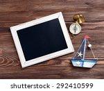 travel inscription on wooden...   Shutterstock . vector #292410599
