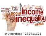 income inequality word cloud... | Shutterstock . vector #292411121
