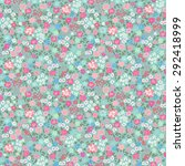 seamless ditsy floral pattern... | Shutterstock .eps vector #292418999