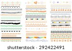 vector brush lines. hand drawn... | Shutterstock .eps vector #292422491