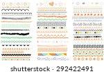 vector brush lines. hand drawn... | Shutterstock .eps vector #292422491