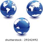 world globe. different views. | Shutterstock .eps vector #29242492