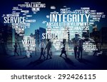 integrity honesty sincerity... | Shutterstock . vector #292426115